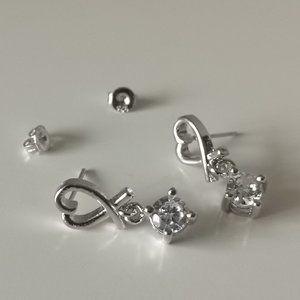 brand new 925 Silver Heart Earrings - Valentine